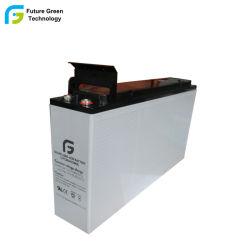 Bateria de Ácido 12V100Ah Frente Terminal Telecom Selada Válvula Regulada Chumbo