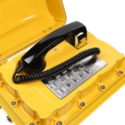 스피커를 가진 산업 전화 PBX 시스템 고정되는 바다 비상 전화 방수 전화 벽 마운트 육지 전화