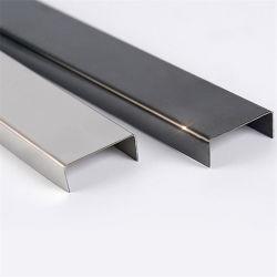 黒い金カラーのフォーシャンのセラミックタイルのコーナーのトリムのステンレス鋼のプロフィールCチャネル