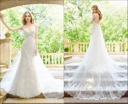 El casquillo envuelve la alineada de boda del cordón de la sirena de los vestidos nupciales 2018 Lb1818
