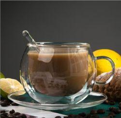 Европейский Heat-Resistant высокой боросиликатного стекла с двойной охраны окружающей среды с чашки кофе блюдо выложите
