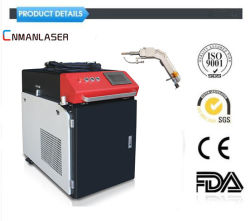 Saldatore tenuto in mano di saldatura caldo del laser della testa di vacillazione della macchina dell'apparecchio per saldare del laser di Cnmanlaser di vendite con il sistema automatico 1000W 1500W 2000W dell'alimentatore del collegare