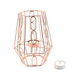 결혼식과 가정 장식을%s 로즈 금 철사 촛대
