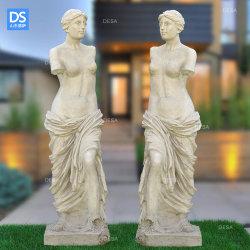 Jardin Romain grec Europern Vénus PRF figure en fibre de verre statues résine Portrait Sculpture