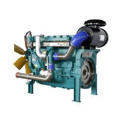 발전기 발전기에 사용된 6 실린더를 가진 유류 소비 디젤 엔진을 낮추십시오