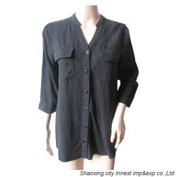 Tencel) Tecido Jeans camiseta com mulheres morrem de vestuário