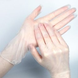 Epi de suministro de laboratorio sin polvo de PVC mayorista estériles desechables de vinilo Examen guantes de seguridad