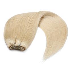 Удлинитель волос высшего качества стороны связаны кожу шелковистой Weft прямой европейского Реми прав стороны связаны Weft волос