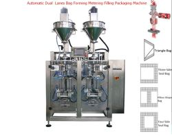 2 voies de la poudre de vis sans fin verticale Vffs l'emballage de la machine de remplissage