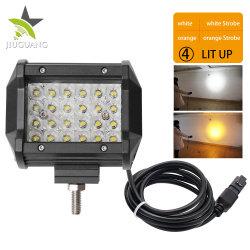 مصباح العمل LED الخاص بشاحنة صغيرة الحجم CREE مقاس 4,8 بوصة باللون الأصفر المزدوج لساحة الضباب الآلي 12 فولت لشاحنة