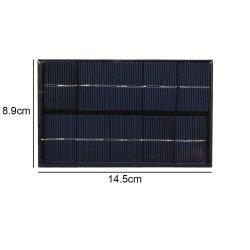 USB de 5V 5W panel Cargador solar portátil cargador rápido de la escalada de paneles solares de polisilicio