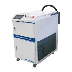 Tipo de arma de 50W 100W 200W de IPG de mano de fibra Láser Máquina de limpieza para la oxidación de la pintura de óxido el aceite sucio.