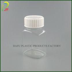 プラスチック帽子が付いている80mlペット丸薬医学の包装のプラスチックびん