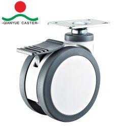 3 - 5 дюйма Пластиковые поворотные медицинских парных тележки колеса для самоустанавливающегося колеса