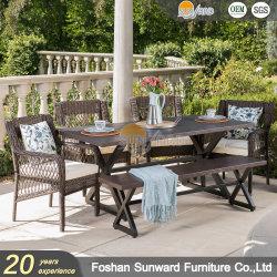Chaud moderne vente Home Resort Hotel L'Osier rotin Restaurant intérieur et extérieur Meubles chaise de salle à manger