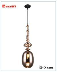 Cuivre simple moderne en verre de lampe de la télécommande unique