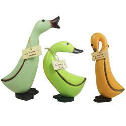 Pato Animal estante decorativo figurita de Sitter patos estatua Woodcraft regalo de boda