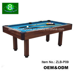 Alta Qualidade 7FT barato Bilhar com ardósia, mesa de bilhar MDF em madeira maciça Zlb-P09