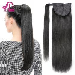 Les Extensions de cheveux humains Stock de queue de cheval, d'enrouler autour de queue de cheval Clip en queue de cheval sèche
