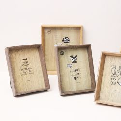 Matériau écologique Cadre Photo en bois de couleur personnalisés