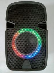 8 дюймов-караоке Bluetooth аккумулятор переносная акустическая система с красочными лампа