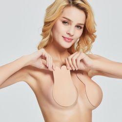 Женщин нажмите кнопку Вверх на Bras силиконового Strapless невидимый бюстгальтер многоразовые липкие груди поднимите ленту каваий заяц бюстгальтер накладки