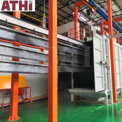 구조상 H 광속 강철을%s 자동적인 탄 돌풍 청소 기계와 분말 코팅 색칠 기계 완전한 생산 라인