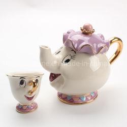 선물 미녀와 야수 Mrs Mrs Potts Mrs Chip Tea Pot Mug(pot & Cup)