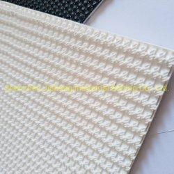 Branco padrão superior áspera Correia Transportadora de PVC para a indústria alimentar