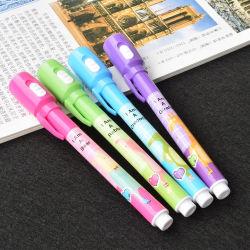 Novidade caneta de tinta invisível mágico com luz UV para uso promocional