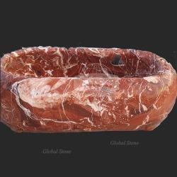 カスタマイズされたデザイン赤い大理石の浴槽(GSTU-103)