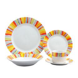 Les éléments classiques de la vaisselle en céramique de nom de la porcelaine 20pcs dîner pour le commerce de gros