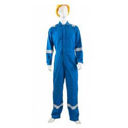 Baumwoll-Polyester-Franc-antistatischer schützender Arbeitskleidungs-Overall für Industrie