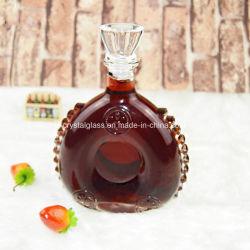 世帯のクラフト750mlの高級な赤ワインのガラスビンのウィスキーのガラス製品