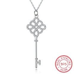 Plata 925 Diseño de Moda Collar Colgante clave de la Joyería San Valentín.