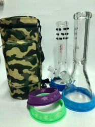 Bolsa de portátil Bolsa Color Camouflag llevar alrededor del tubo de agua de cristal con Ud.