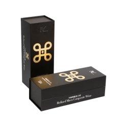 El papel impreso personalizados de papel de plata Silvegold Logotipo de la lámina de embalaje caja de cartón de embalaje de regalo con soporte Introduzca la bandeja para Whisky Whisky vino espumoso de la unidad de bebidas