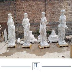 Белые мраморные скульптуры из камня резьба леди рисунок для сада и оформление