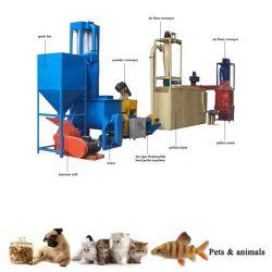 Los pequeños peces Gato como mascota flotante alimentación alimentos para perros de la línea de producción de máquina de fabricación de pellets