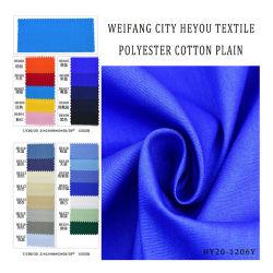 Polyester coton Vêtements de travail dans l'ensemble tissu ordinaire pour chemise/vêtement/vêtements de mode uniforme