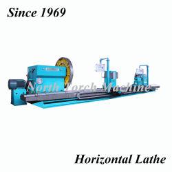 Große horizontale horizontale Drehbank-Hochleistungsmaschine mit 2 Ausschnitt-Hilfsmittel-Wagen