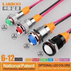 Lanboo 6-12mm métal avec voyant rouge vert bleu jaune blanc