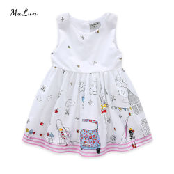 Großhandel Mode Niedlichen Blume Spitze Baby Mädchen Kleider