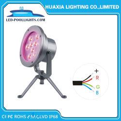 مصباح LED تحت الماء LED بقوة 9 واط DC24 فولت RGB