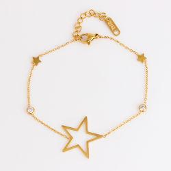 Mode bijoux Mesdames Bracelet réglable de chaîne de dessins et modèles d'or