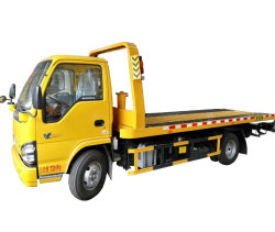 Isuzu 5 Ton pequeña grúa de remolque/carretera/Recuperación Flatebed carretilla