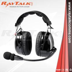 Radio de dos vías de reducción de ruido los auriculares con cable XLR