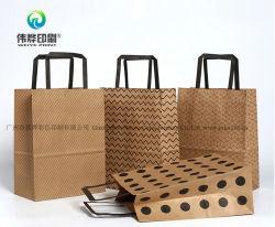 الصين الموردون حزمة الإعلانات الرخيفة طباعة رخيصة ورق كرافت حقيبة هدية