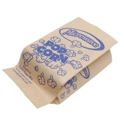 Documento del popcorn di Microwavable del sacchetto stampato abitudine della carta oleata del Libro Bianco di marchio