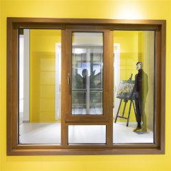 Finestra di legno della stoffa per tendine della cucina della lega di alluminio di rivestimento di grano con il comitato di difficoltà